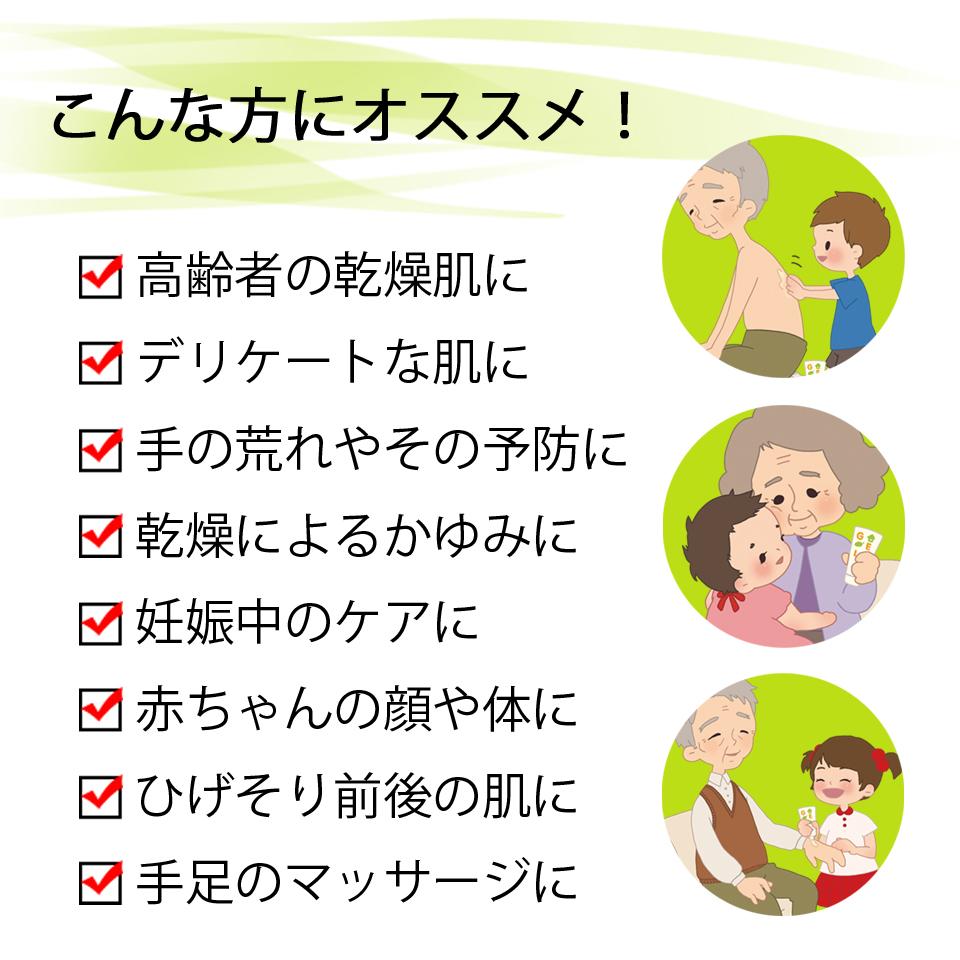 手の荒れ・乾燥によるかゆみ・赤ちゃんの顔や体・高齢者の乾燥肌・カサカサ肌